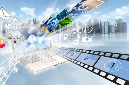 Internet and multimedia sharing concept